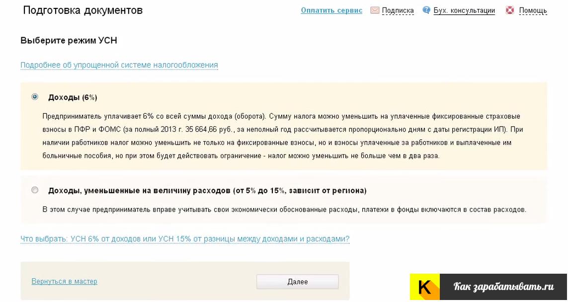 Выбор налогообложения при регистрации ИП