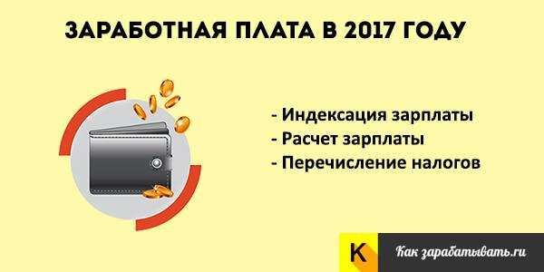 Заработная плата в 2017 году